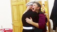 U.S. Marine Surprises Mother at Church Thanksgiving Dinner