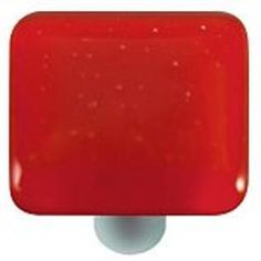 17.50-Hot Knobs HK1003-KA Brick Red Square Glass Cabinet Knob - Aluminum Post at Sears.com