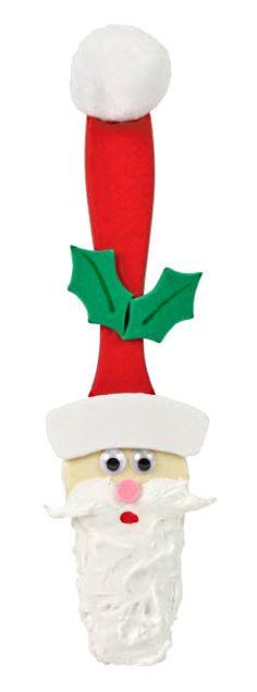 Nicole™ Crafts Santa Paintbrush #christmas #kids #craft