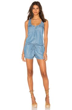 Soft Joie Mendra Romper in Vintage Chambray