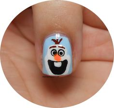 Frozen Series: Olaf nail art