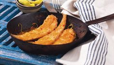 A Twist on Ye Old Style Pan Fried Sole Cornbread, Seafood, Fries, Inspired, Ethnic Recipes, Millet Bread, Sea Food