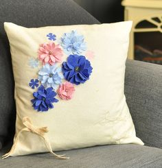 How to Die Cut Fabric Flowers #DieCutting #Sizzix