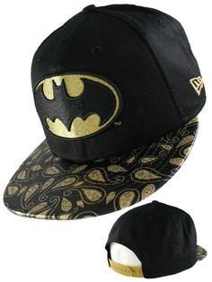 Casquette Snapback New Era - Casquette Batman 9FIFTY New Era Paisley noire et or.