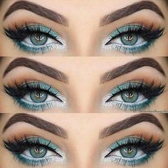 Imagen de makeup, eyes, and blue