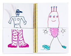 Children's mix and match sketchbooks by Deuz