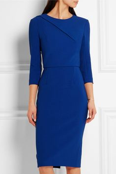 Cobalt Blue, Crepe Sheath Dress.