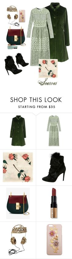 """""""🌫Stranger in Moscow🌫"""" by dolleee ❤ liked on Polyvore featuring Maison Olivia, Burberry, The Elder Statesman, Gianvito Rossi, Chloé, Bobbi Brown Cosmetics, Dolce&Gabbana and Too Faced Cosmetics"""