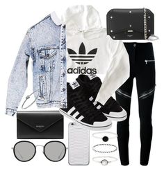 """""""Untitled #20894"""" by florencia95 ❤ liked on Polyvore featuring Givenchy, Jamie Clawson, Balenciaga, adidas, Urban Renewal, Michael Kors, Linda Farrow and Accessorize"""