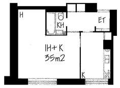 Agricolankuja, Kallio, Helsinki, 1h+k 35 m², SATO vuokra-asunto