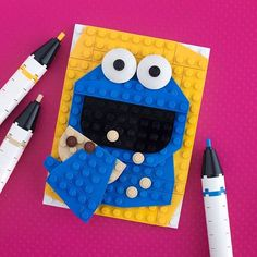 cookie monster lego portrait by Chris McVeigh