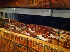 Close up of Egyptian Sarcophagus from Boston Museum of FIne Art