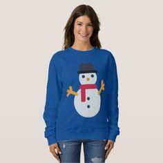 #Christmas emoji snowman womens sweatshirt - #emoji #emojis #smiley #smilies