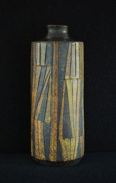 Large MCM Raymor ALDO LONDI / BITOSSI Cubist Bottle Vase Fantoni Gambone NM