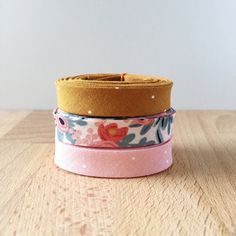 Bias Tape 1-yard sampler pack of pictured cotton by SoBiased