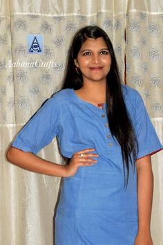 """""""Aarashi"""" ......Like the First Ray of The Sun, Heavenly, Spectrum of Beautiful Solid Colours.... Khadi Cotton Kurtas in Solid Colours by AahanaCrafts  Available in Sizes- S  M  L  XL * Visit- www.facebook.com/aahanacrafts"""