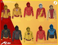 Flash hoodies - I WANT THEM ALL!
