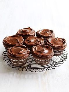 Flourless Chocolate Cupcakes With Ganache | Donna Hay