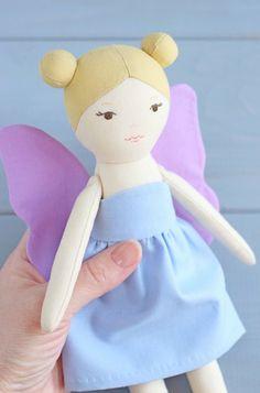 PDF Fairy Sewing Pattern & Tutorial — DIY Cloth Doll, Rag Doll with Clothes, Soft / Stuffed Toy, Fairy Tale Themed Nursery Decor Unicorn Doll, Mermaid Dolls, Plush Animals, Stuffed Animals, Sewing Toys, Fairy Dolls, Jouer, Pdf Sewing Patterns, Doll Face