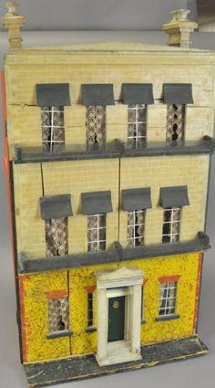 Silbers and Fleming Dollhouse...exterior.  .....Rick Maccione-Dollhouse Builder www.dollhousemansions.com