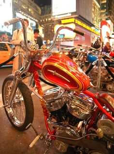 'Tequila Sunrise' Harley Davidson Panhead by Paul Cox and Keino Sasaki from Indian Larry Legacy