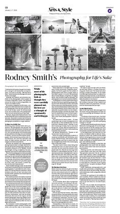 Rodney Smith's Photography for Life's Sake Epoch Times #Arts #Photograph #newspaper #editorialdesign