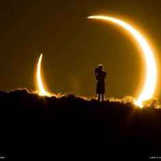 An onlooker of the annular solar eclipse witnesses the celestial event on May 20, 2012. Photo and caption by Colleen Pinski.