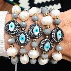 Bracelets By Vila Veloni Eyes and Pearls