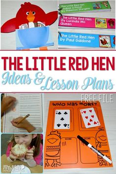 Here are my Little Red Hen Lesson Plans. It is one of our favorite traditional stories. Here are lesson plans for your Little Red Hen week (or weeks). Reading, writing, math, craft, and science lessons make this easy for teachers and fun for your students. There is a Free download included in these activities too!