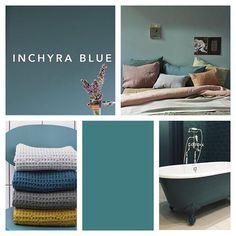 Inchyra blue by farrow and ball bedroom Inchyra Blue Farrow, Farrow And Ball Inchyra Blue, Room Colors, House Colors, Farrow And Ball Bedroom, Stiffkey Blue, Design Websites, Snug Room, Hall