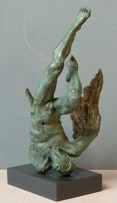 lucianne lassalle: Icarus II - The Fall: Bronzes