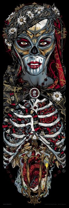 Studio Seppuku - The Art of Rhys Cooper — SANTA MUERTE holo art print
