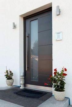 Trendy Modern Glass Door Entrance Front Porches 70 Ideas Source by gne Modern Entrance Door, Modern Exterior Doors, Modern Front Door, Front Door Entrance, House Front Door, Front Door Porch, House Entrance, Front Entry, Home Door Design