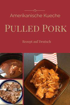 Pulled Pork - Amerikanische Kueche | USA billig aber gut leben Eine sehr einfache Zubereitung im Slowcooker mit ueberraschenden Zutaten.