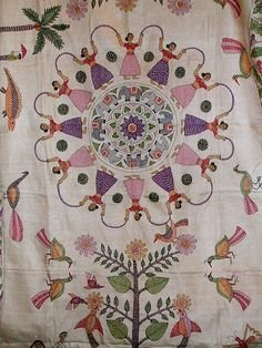Kantha quilt, Peacock
