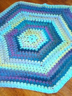 """Free pattern for """"Carribean Hexagon Afghan""""!"""