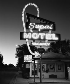 JÜRGEN VOGT -  SUPAL MOTEL Seligman Arizona 11˝× 13 ¾˝ Edition 15 16˝× 20˝ Edition of 11 Larger images available on request