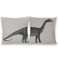 Brontosaurus Two-Piece Zip Pillow Covers by Geo Evolution
