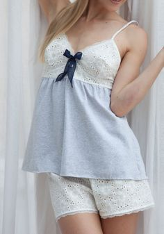 Best 12 Sleep wear top pattern Order via line : (with *been so busy lately but we are doing the best to make every single order in time. Sorry for delaying dear customer – SkillOfKing. Sexy Pajamas, Cute Pajamas, Pajamas Women, Night Wear Dress, Night Suit, Girl Outfits, Fashion Outfits, Pretty Lingerie, Sleepwear Women