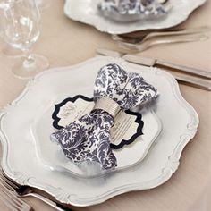 Elegant Place Settings #wedding