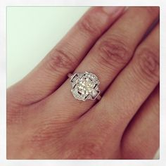 This just in! A beautiful original vintage piece from the 1920's - 0.95ct old European cut diamond set in platinum. Exquisite and only at Single Stone. (213) 892-0772 www.singlestone.com #deco #diamonds #dtla #platinum #engagement #wedding #rings #hello #beautiful #classic #soyou #ido #finejewelry #happiness #jewels #losangeles #artdeco #gorgeous #vintage #antique #youandme #era