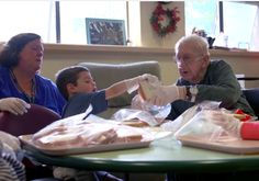 The elderly and young interact 5 days a week.  What Happens When You Combine a Nursing Home With a Preschool? http://www.visiontimes.com/2015/06/16/what-happens-when-you-combine-a-nursing-home-with-a-preschool.html