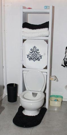 Ceramic Toilet and Shelf Organizer  Homemade 18 by MadisDollHouse