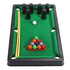 Kids Mini Tabletop Pool Table Game Snooker Billiards Toys Easy To Assemble