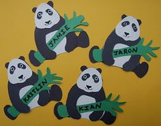 Let's make a panda craft. Panda's are very cute lazy animals. Every kid loves pandas. You can make panda crafts in your class or home to make them happy. Kids Crafts, Zoo Crafts, Name Crafts, Camping Crafts, Preschool Crafts, Animal Crafts, Preschool Ideas, Panda Bear Crafts, Panda Craft