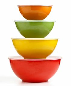 Storage solution. Martha Stewart Collection Harvest Multi Bowls with Lids, Set of 4. BUY NOW!