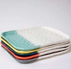 Herringbone Dip Tray by dahlhaus on Etsy, $48.00