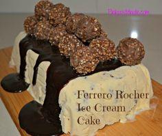 Ferrero Rocher Ice Cream Cake Recipe