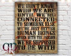 sons of anarchy, typographic print, sons of anarchy quote, love quote, printable art, digital download, gift ideas