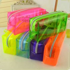 Cute Candy color transparent multifunctional stationery pouch kawaii pencil case for girls cosmetic bag office school supplies Clear Pencil Case, Diy Pencil Case, Pencil Boxes, School Pencil Case, Cute School Supplies, Office And School Supplies, School Ideas, Big Pen, Pencil Cases For Girls